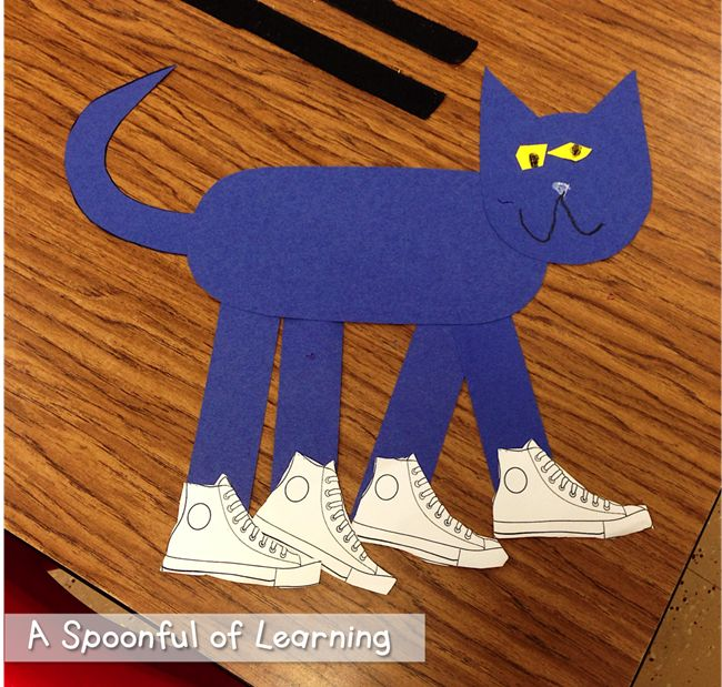 73 Cool Pete the Cat Freebies and Teaching Resources :: KindergartenWorks - Pete the Cat Craft