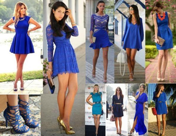 Acessorios para vestido azul electrico