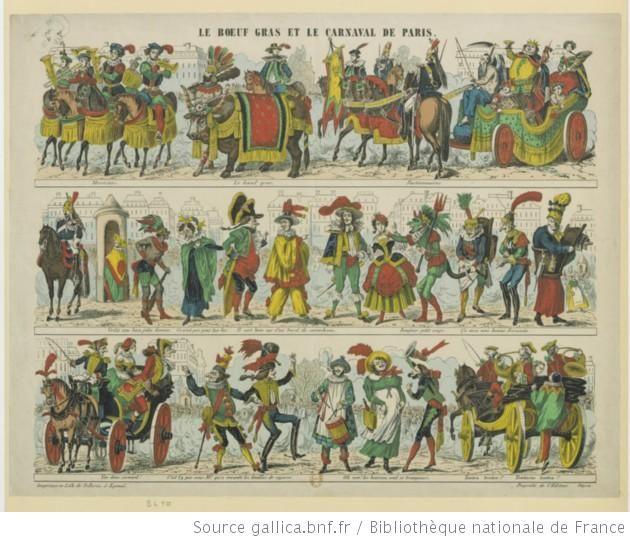 Le boeuf gras et le Carnaval de Paris : [estampe] / Chaste lith.