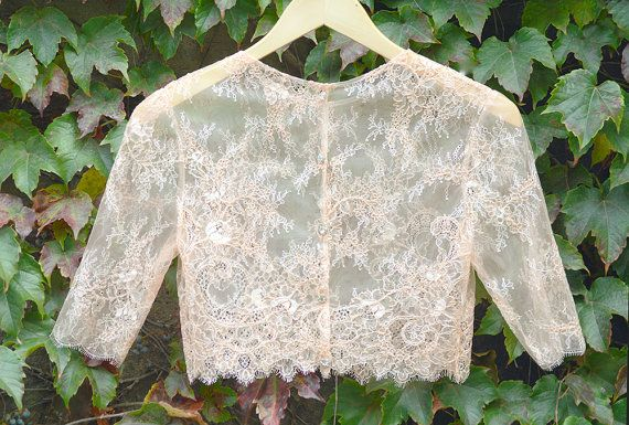 Lily Topper Blush Pink Lace Topper Bridal by CosentinoDesigns