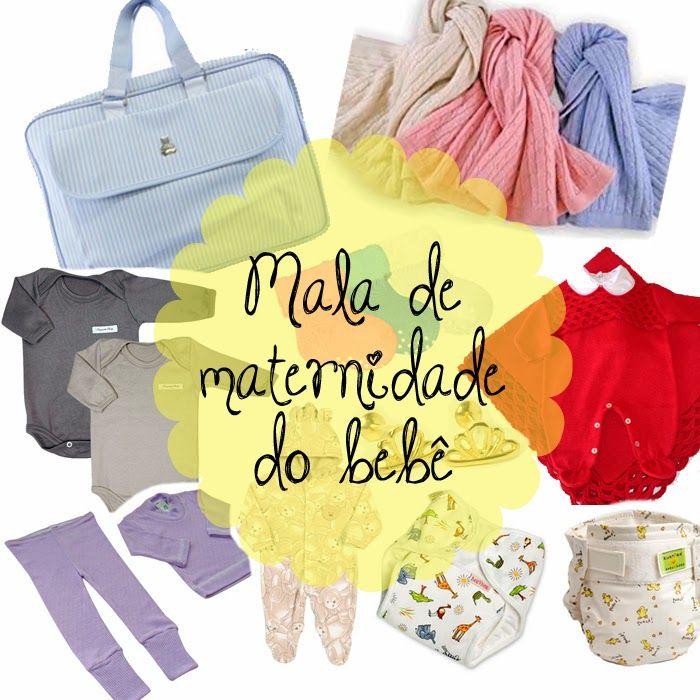 Post sobre dicas do que levar na mala de maternidade do bebê @M Mãedesalto http://www.mamaedesalto.com/2013/12/o-que-levar-na-mala-de-maternidade-do-bebe.html