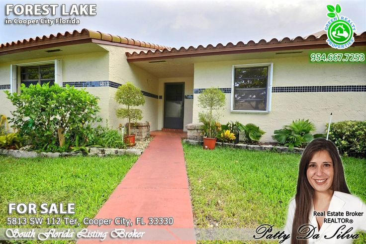 Gorgeous 3 bd 2 ba townhome in the heart of Cooper City in Harmony Lakes community. Home features newer kitchen, granite countertops, remodeled bathrooms and tile throughout, new roof (2012) and accordion hurricane shutters. Own in the best city in Broward County and attend Cooper City schools for $195,000. More photos: http://www.welovesouthflorida.com/5813-sw-112th-ter/  If you need assistance with buying or selling a home, call Patty at 954-667-7253 and visit www.Patty.WeLoveSouthFlorida.