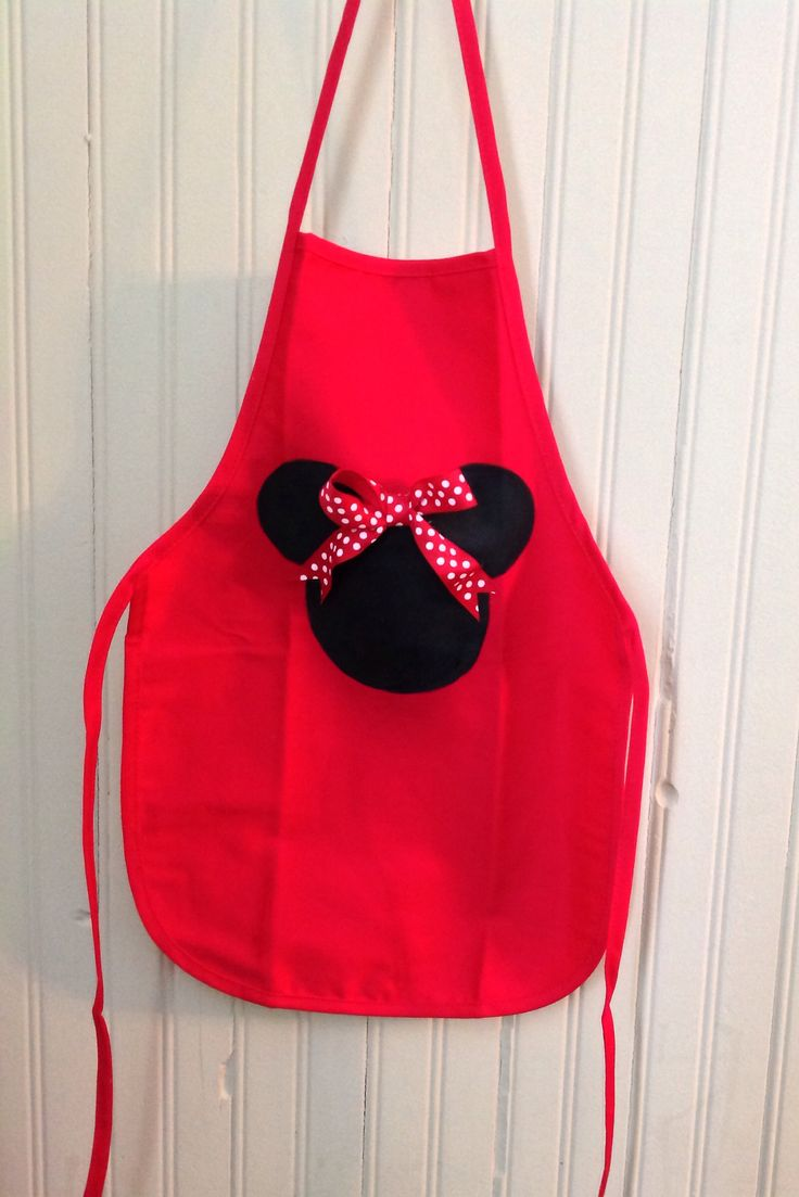 DIY Minnie Mouse apron  toddler crafts  Sewing aprons