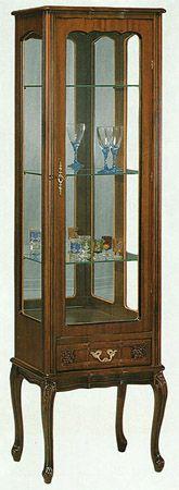 vetrina con una porta più un cassetto www.mobilisaoncella.it