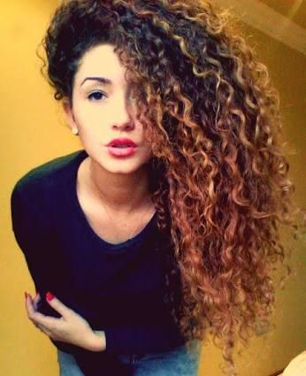 black to red ombre hair curly - Google Search