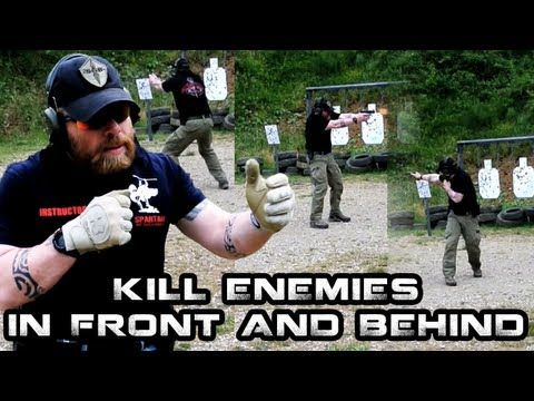 HOW TO ENGAGE THREATS IN FRONT AND BEHIND   Advanced Pistol Tactics   FunkerTactical