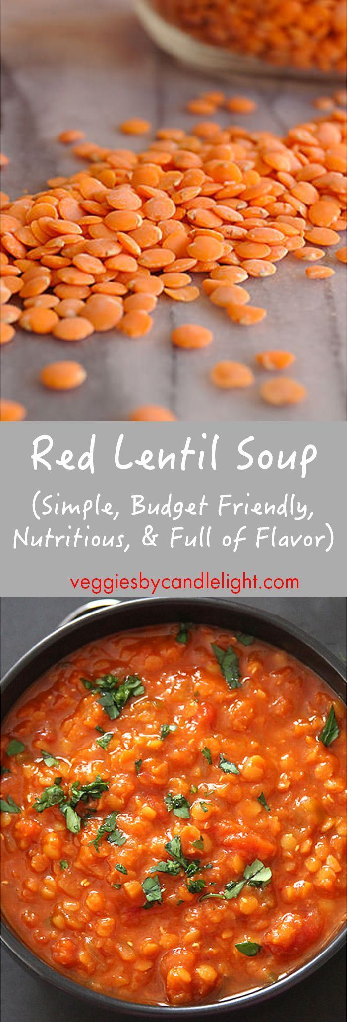 Red Lentil Soup - Simple to make, budget friendly, highly nutritious, & packed with flavor, this lentil soup makes a wonderful summertime meal