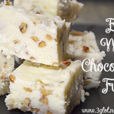 Easy White Chocolate Fudge by 3GLOL.net