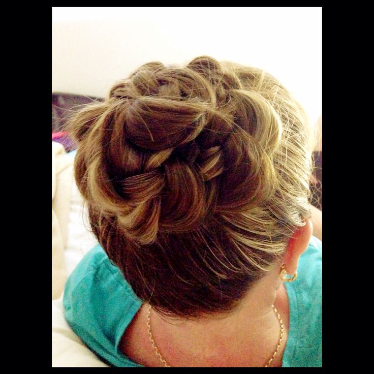 Simple braided updo..