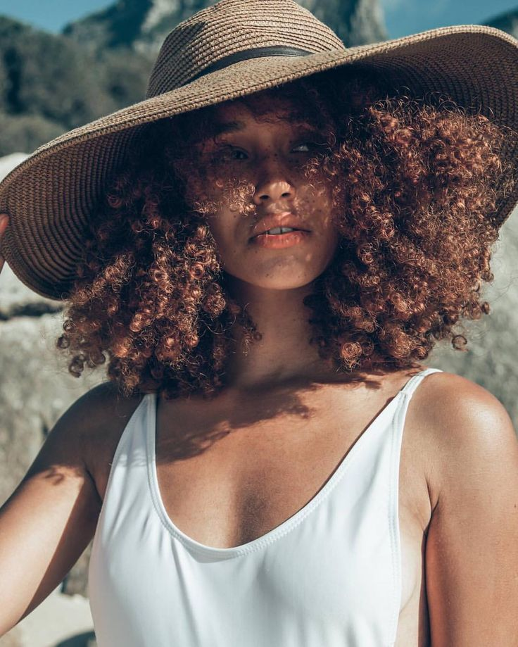 See this Instagram photo by @lulustone_ • curly hair. Natural hair. Big hats. Texture. Curls.