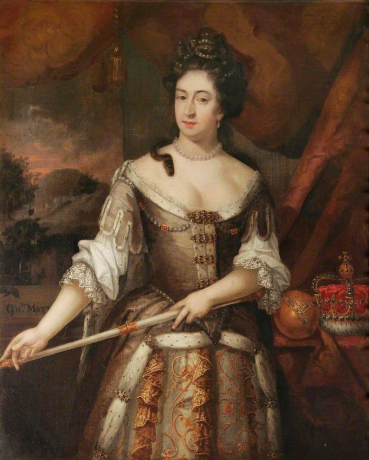 """Queen Mary II"", John Ferrour, 1690; King's Lynn Town Hall KLTH 7"
