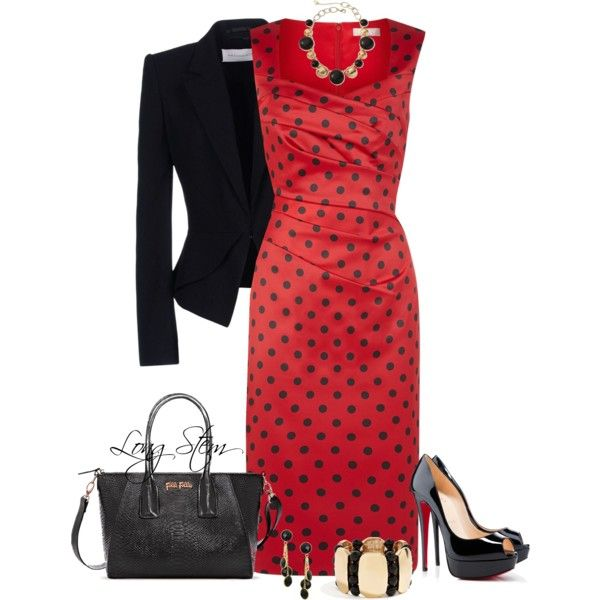 A fashion look from June 2014 featuring Planet dresses, Viktor & Rolf blazers y Christian Louboutin pumps. Browse and shop related looks.