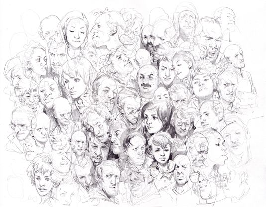 Top film artist opens up his sketchbook – Character design – male