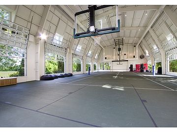 Welcome to my indoor basketball court. Yes, it's on the top level, third level, of the house. Game on!