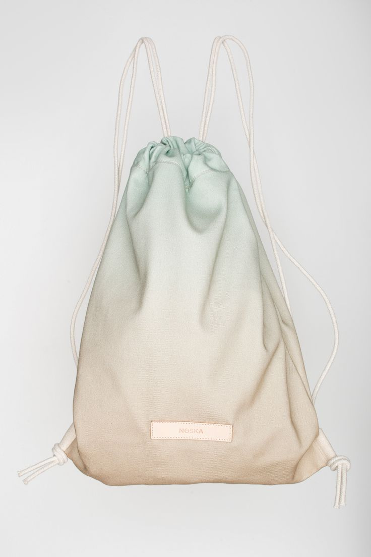 Farm House | NOSKA SHOP #RuckSack #OpalBlue #Semolina #Farmhouse #drawstring #bag