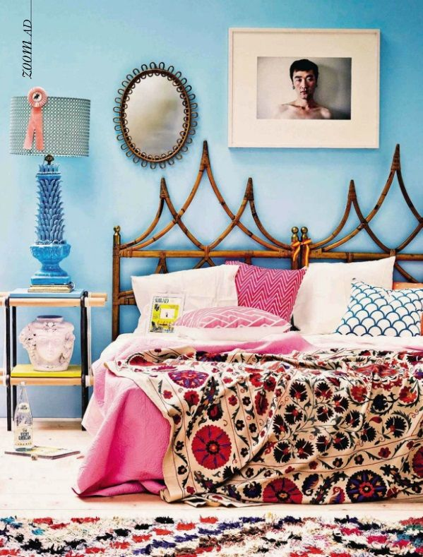 I need that headboard!!!! And everything else in the room.Moroccan Boucherouite https://www.etsy.com/shop/bringyourownsunshine