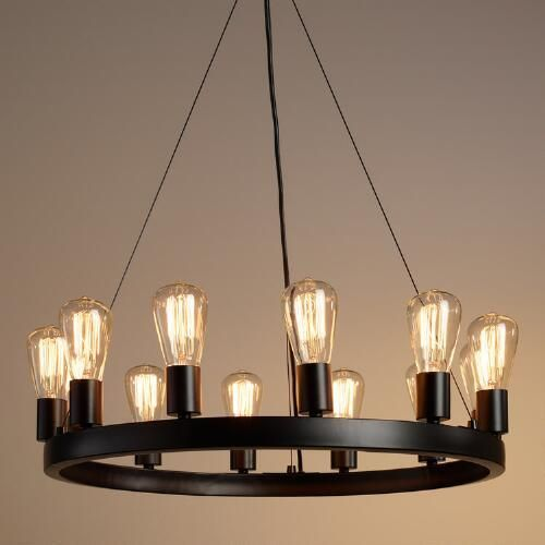 12 light edison bulb chandelier edison bulb chandelier edison lighting. Black Bedroom Furniture Sets. Home Design Ideas