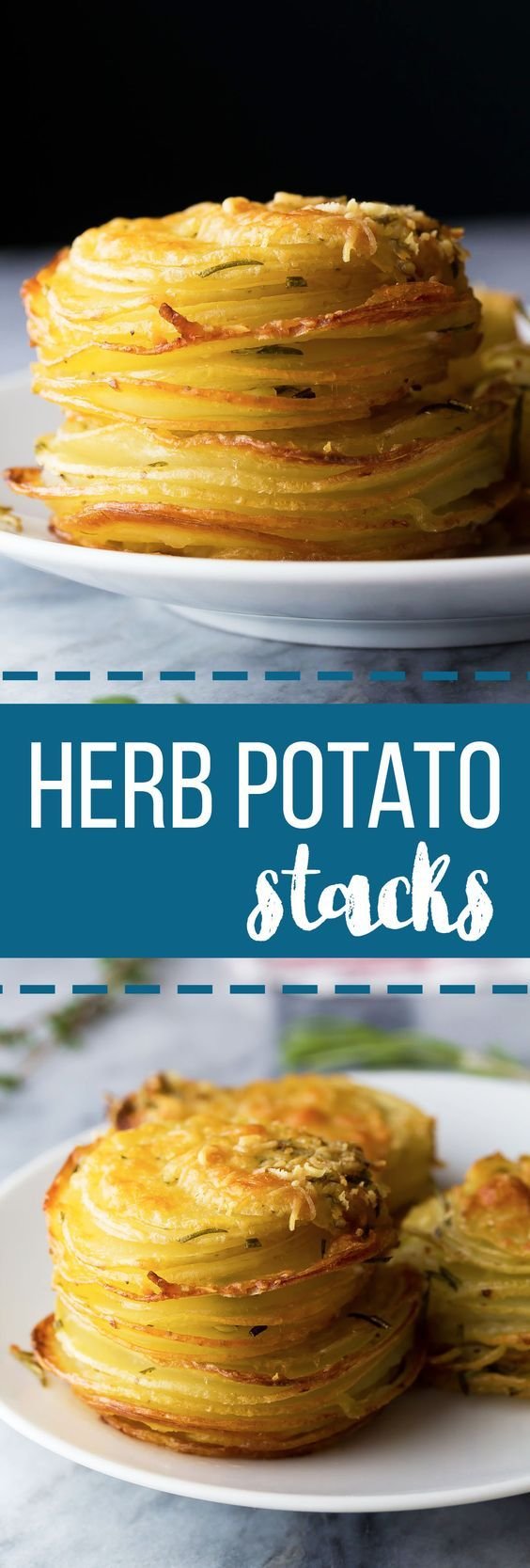 Herb and Garlic Potato Stacks (Video) | Recipe