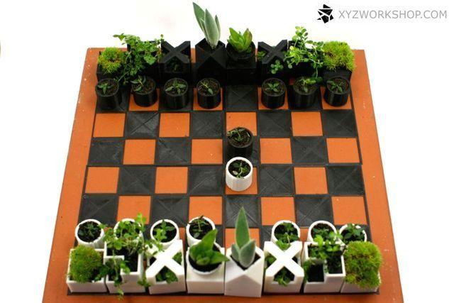 шахматные фигуры - контейнеры для растений