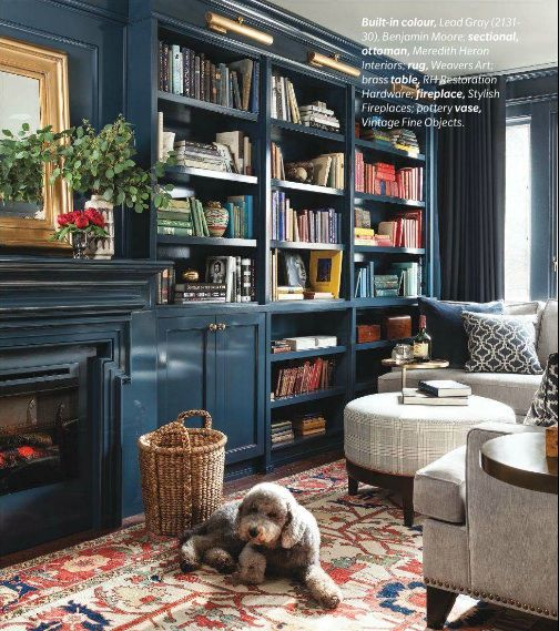 Meredith Heron Design - #Hurndale Den in the Feb 2014 Canadian House and Home issue and featured on Elements of Style blog.