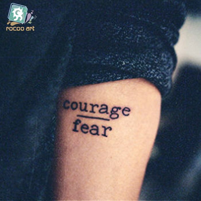 courage over fear tattoo