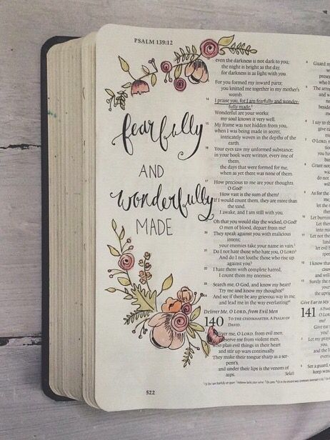 fearfully and wonderfully made Bible Journaling
