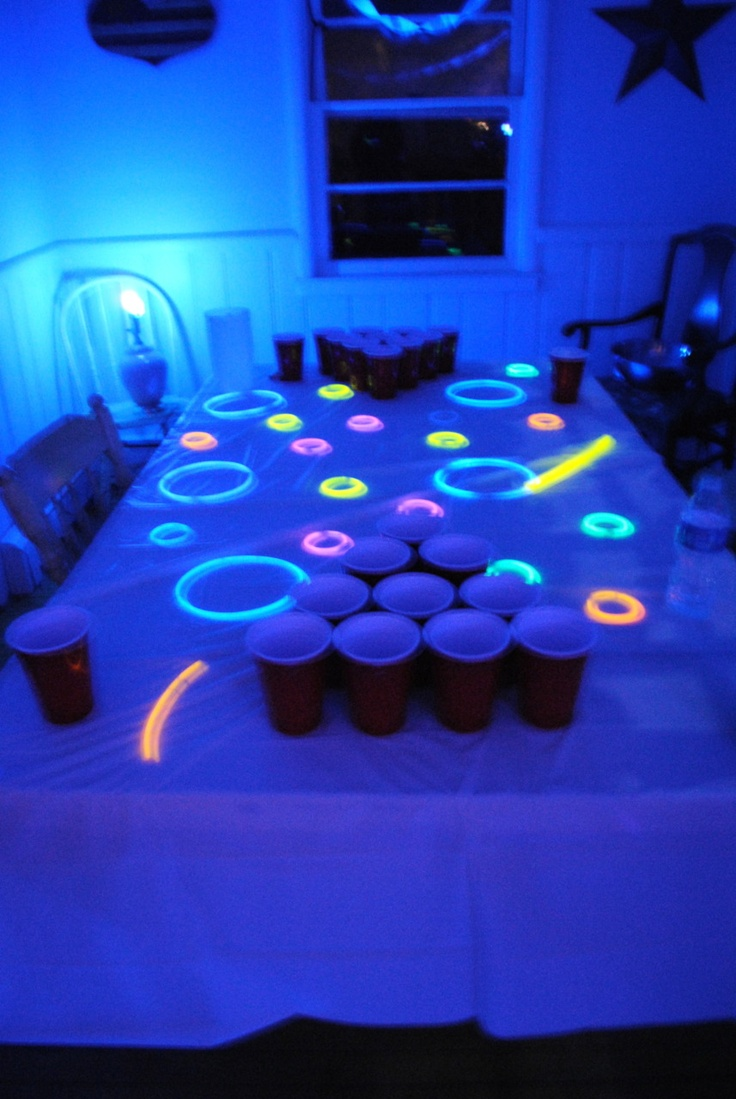 good for a highlighter party or black light party of some sort :)