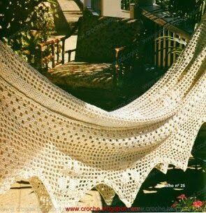 crochelinhasagulhas: Rede de varanda ou descanso em crochê com PAP