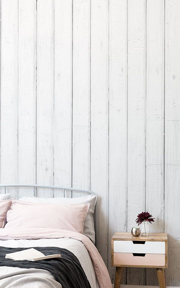 White Washed Wood Wallpaper For Bedrooms More Muralswallpaper In 2020 Wood Wallpaper Bedroom White Wood Wallpaper Wallpaper Design For Bedroom