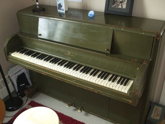 Victory Vertical Steinway piano, great colour for (could paint and age a standard second hand piano)