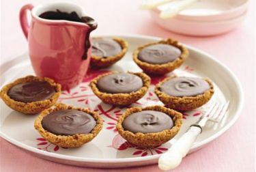 Chocolate Butternut Snap Tartlets