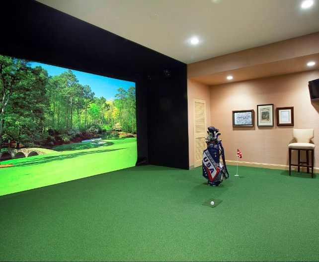 55 best golf simulator room design ideas images on pinterest for Apartment design simulator