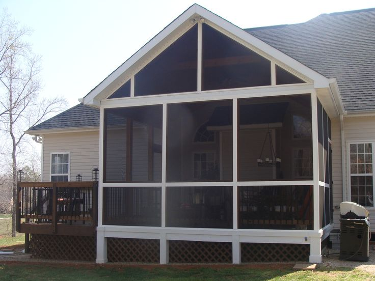 17 images about creative porches and elevations for for Modular screen porch