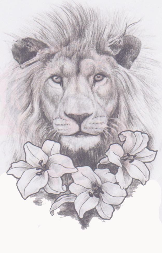 Tattoo Expo: Lion In The Lilies