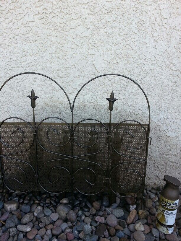 #spinkler Valves...I made this mini fence to cover ugly sprinkler valves. It was black and gold so I painted it with rustoleum. I even painted the pvc pipes.