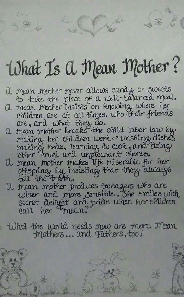 What Is A Mean Mother