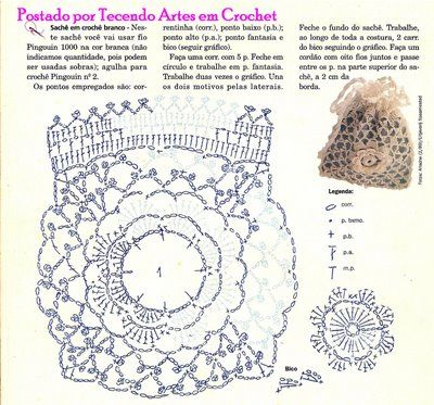 8 Best Sachet N Small Pouch Images On Pinterest Crochet Doilies