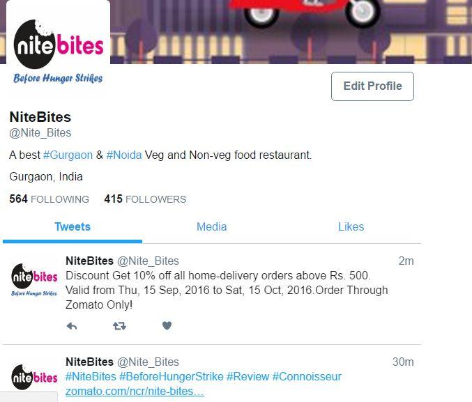 #NiteBites #Twitter