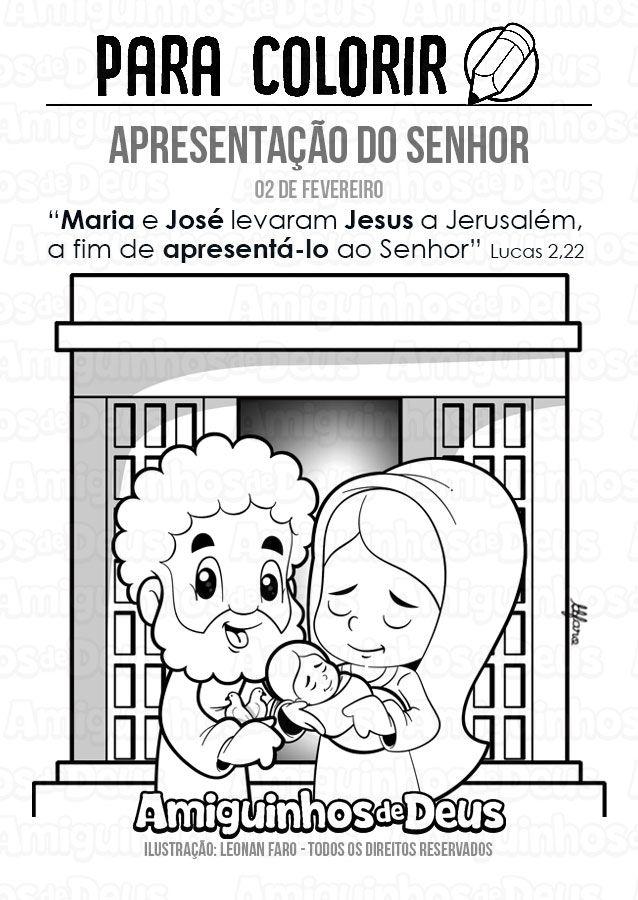 Apresentacao Do Senhor Desenho Para Colorir Biblia Infantil