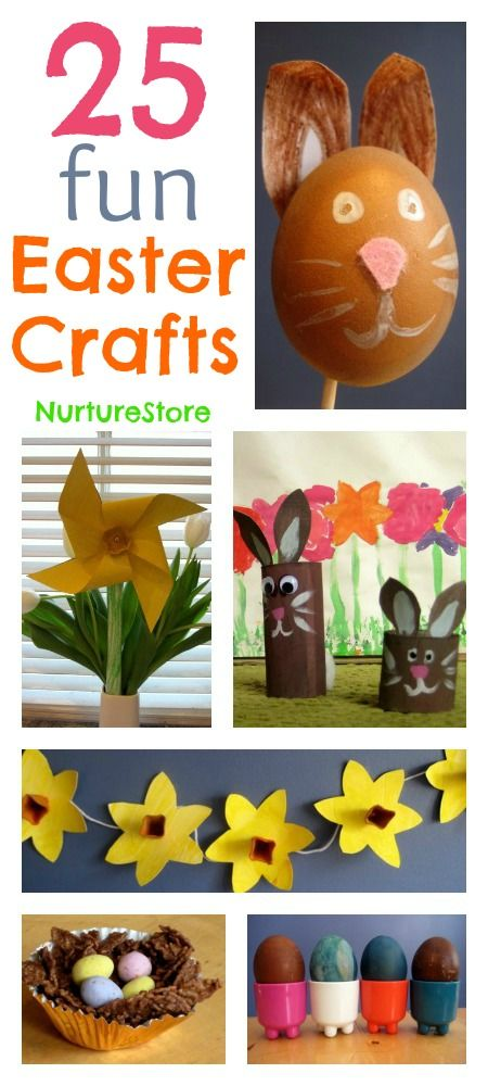 25 #Easter #crafts for #kids - lots of super cute ideas!