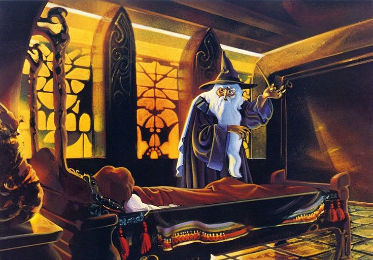 Frodo and Gandalf in Rivendell - Ralph Bakshi