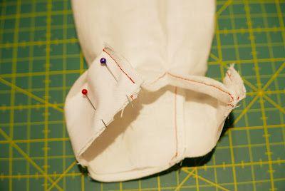 Cómo coser un puño de camisa