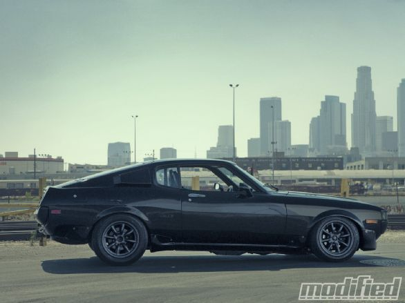 Inspired by American muscle car aesthetic design, Toyota had recently introduced a new model in an attempt to bring sporty RWD performance to a compact package. Jay Cabral's Celica has that muscle car look down with the performance mods to back it up. Keep reading to check out this immaculate 1976 Toyota Celica. - Modified Magazine