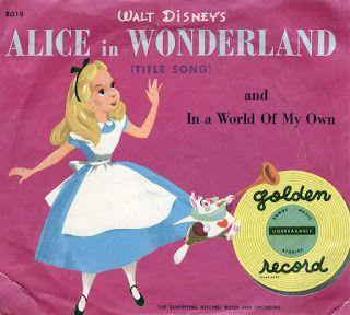 Vintage Disney Alice in Wonderland: Little Golden Records