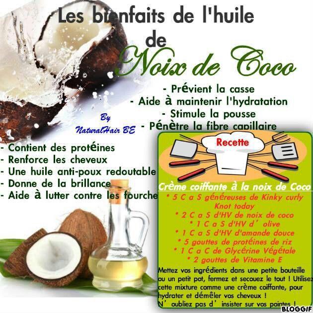Les bienfaits de l'huile de noix de coco