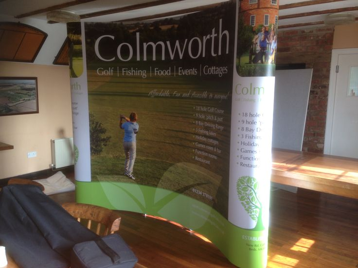 Pop Up printed exhibition graphics for Colmworth Golf Club