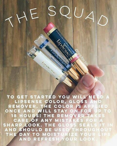 Not sure what to purchase? Start here, the squad. You get the color, gloss and oops remover. want to see what I have in stock? link in profile