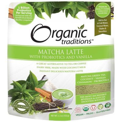 Organic Matcha Latte with Probiotics