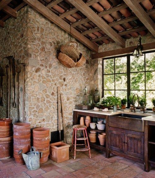 Potting shed interior garden garage garage ideas for Shed interior ideas