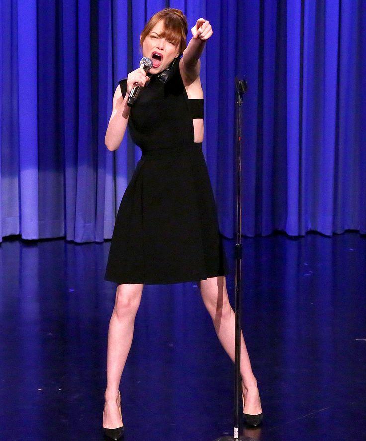 Emma Stone Destroys Jimmy Fallon in Lip Sync Battle on Tonight Show: Watch Here!